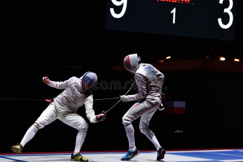 De internationale schermende Folie 2015 van toernooienst. petersburg stock afbeelding