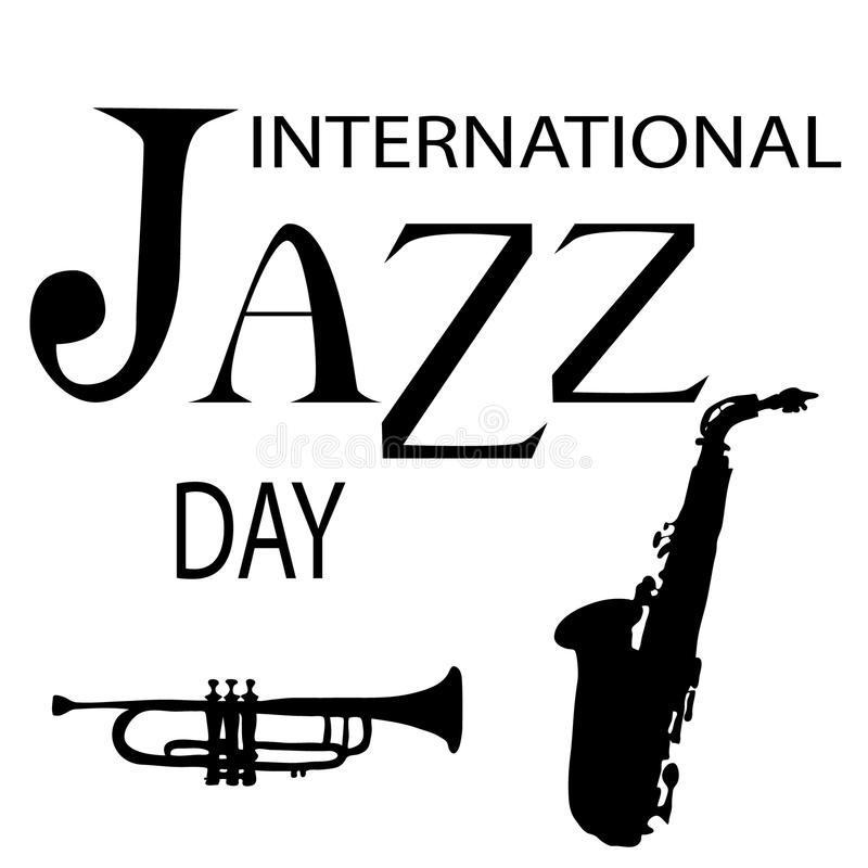 De internationale vectorillustratie van Jazz Day stock illustratie