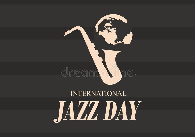 De internationale vectorillustratie van Jazz Day royalty-vrije illustratie