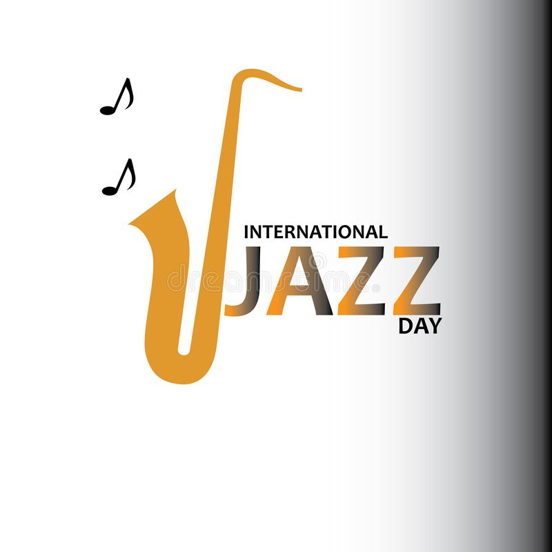 De internationale vectorillustratie van Jazz Day - Het vector vector illustratie