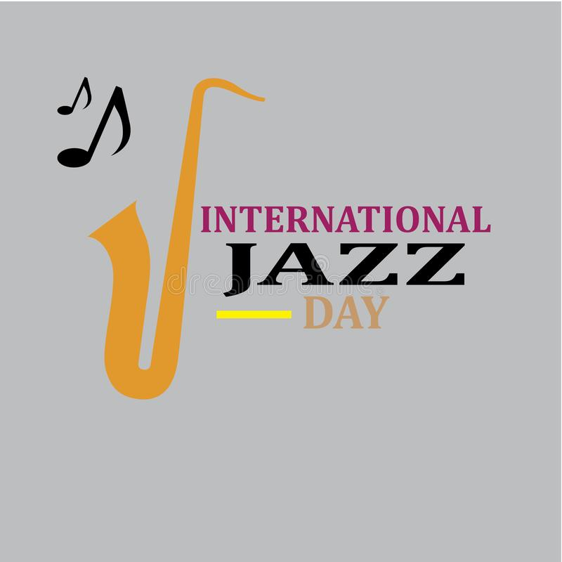 De internationale vectorillustratie van Jazz Day - Het vector royalty-vrije illustratie