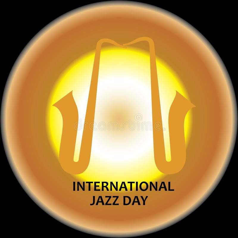 De internationale vectorillustratie van Jazz Day - Het vector stock illustratie
