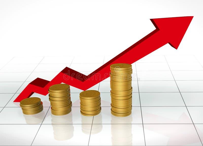 De investering groeit royalty-vrije illustratie