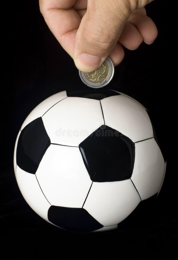 De investering van het voetbal stock foto