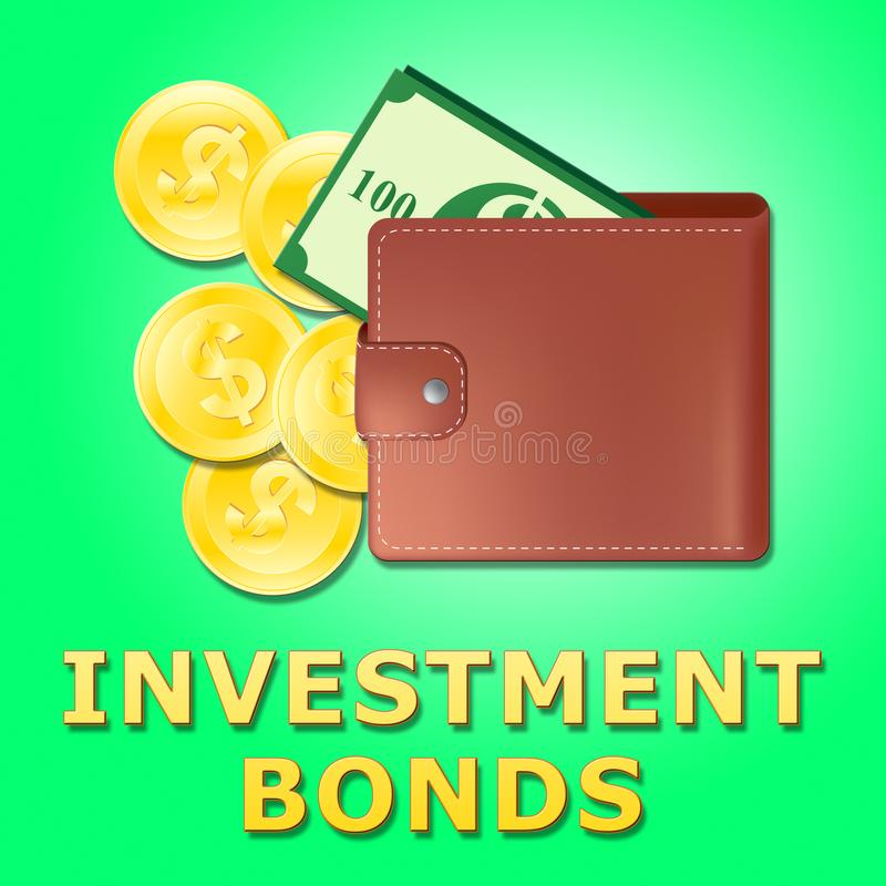De investeringsbanden betekent de Groei Investerend 3d Illustratie royalty-vrije illustratie