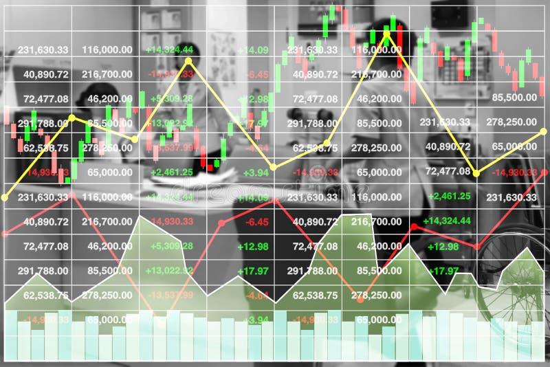 De investeringsgegevens van de voorraad financiële index van het ziekenhuis en gezondheidszorg stock illustratie