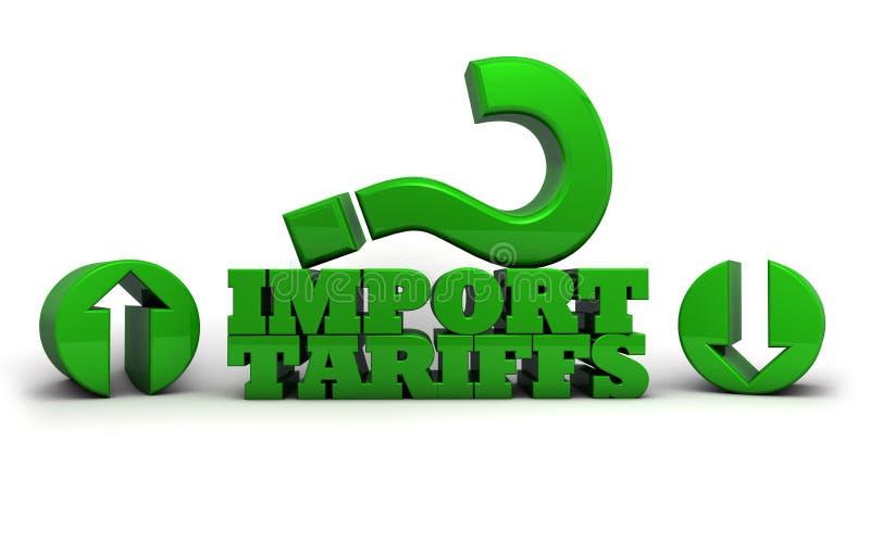 De invoertarieven en Handelsoorlogen royalty-vrije illustratie
