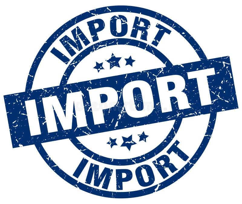 De invoerzegel stock illustratie