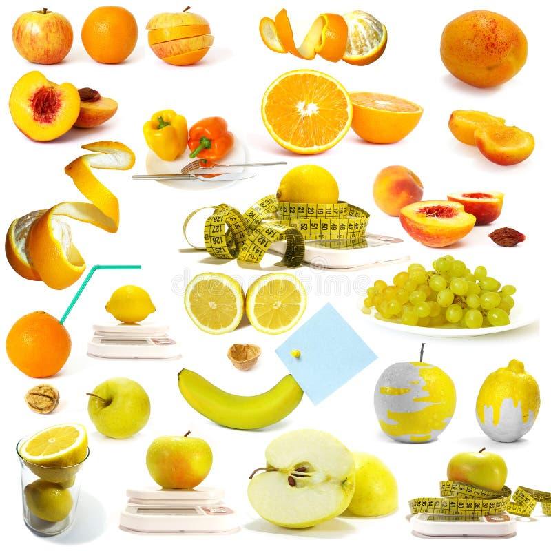 De inzameling van bessen en vruchten royalty-vrije stock foto