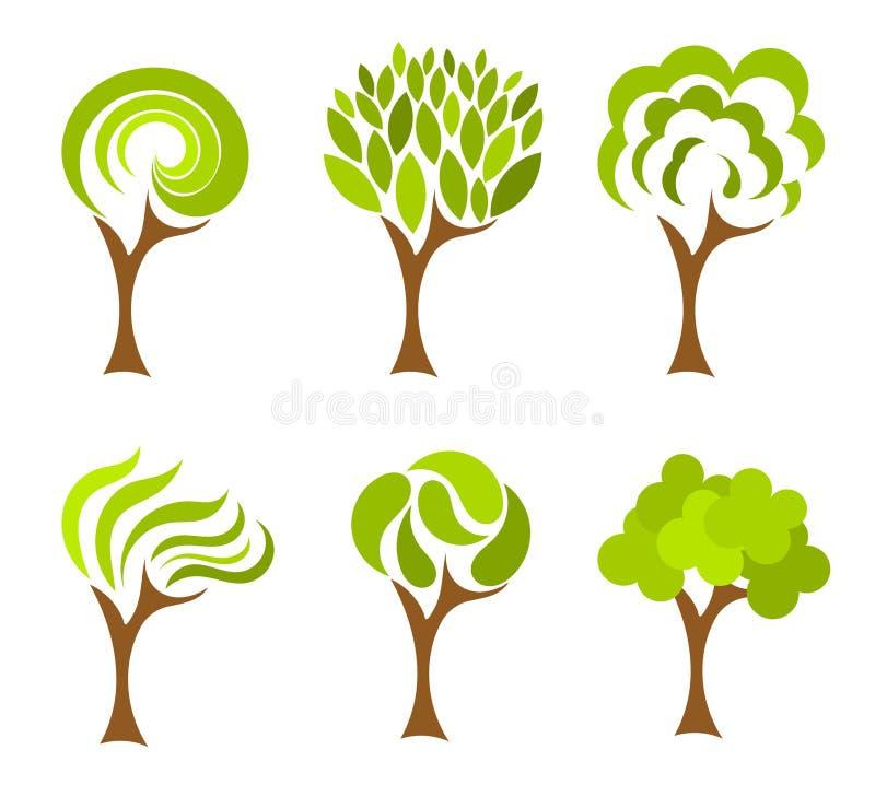 De inzameling van bomen royalty-vrije illustratie