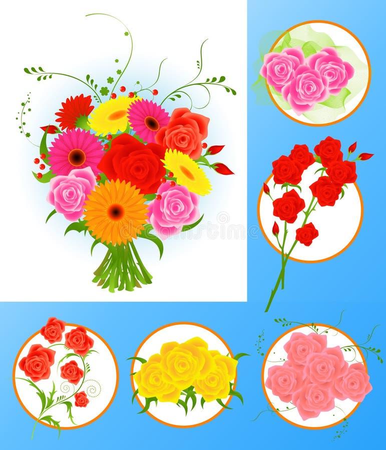 De inzameling van de bloem stock illustratie