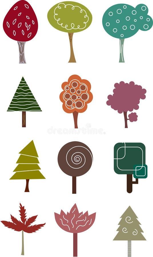 De inzameling van de boom. royalty-vrije illustratie