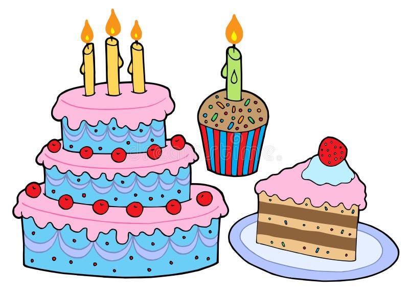 De inzameling van de cake royalty-vrije illustratie