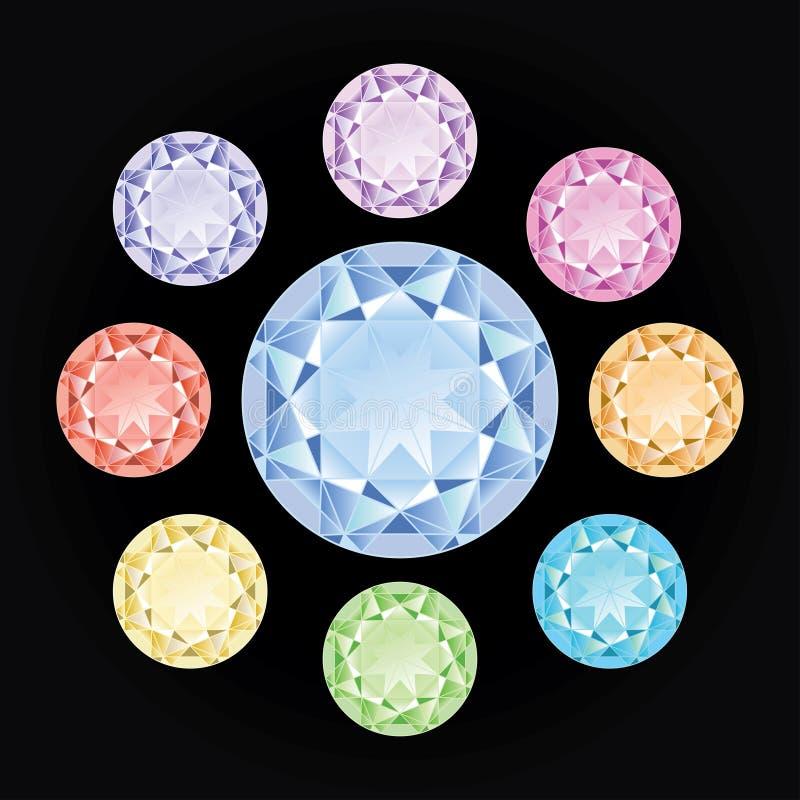 De Inzameling van de diamant vector illustratie