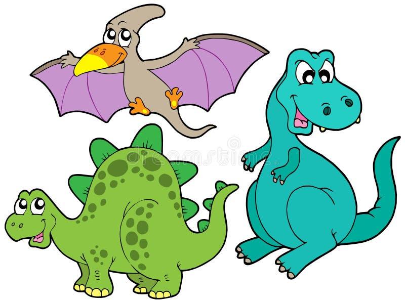 De inzameling van de dinosaurus royalty-vrije illustratie