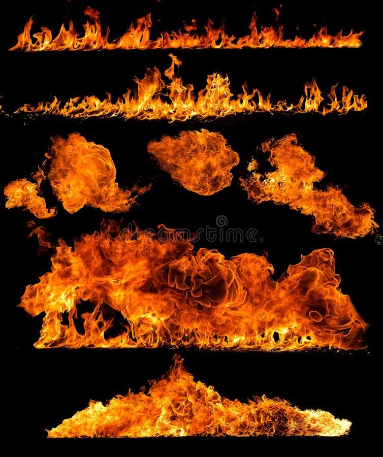 De inzameling van de hoge resolutiebrand stock foto