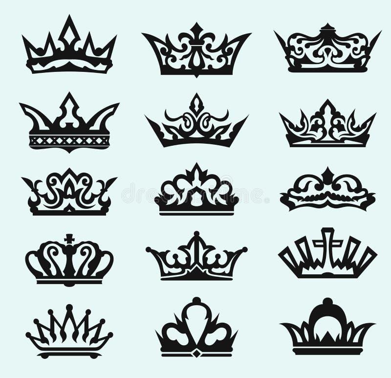 De inzameling van de kroon stock illustratie