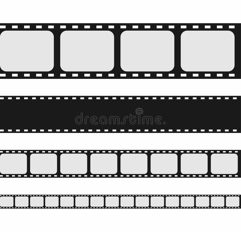 De inzameling van de filmstrook Reeks van het lege malplaatje van de filmstrook royalty-vrije illustratie
