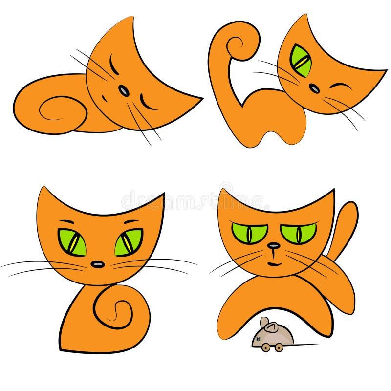 De inzameling van het beeldverhaal cat.pet royalty-vrije illustratie