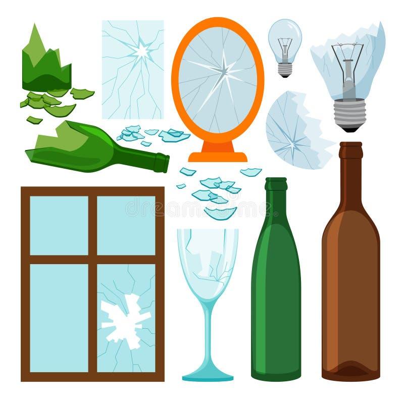 De inzameling van het glashuisvuil stock illustratie