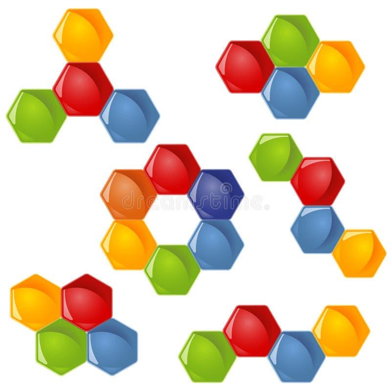 de inzameling van het honingraatgroepswerk vector illustratie