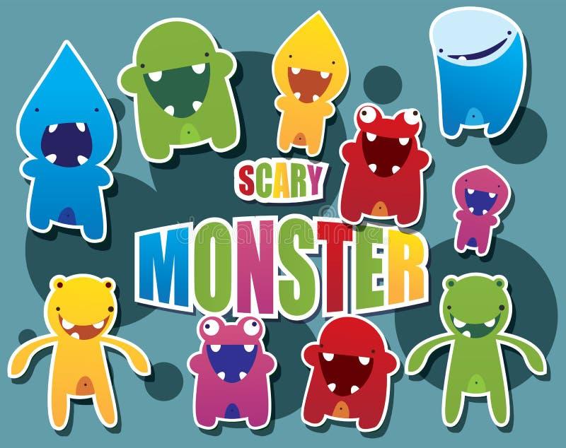 De inzameling van het monster royalty-vrije illustratie