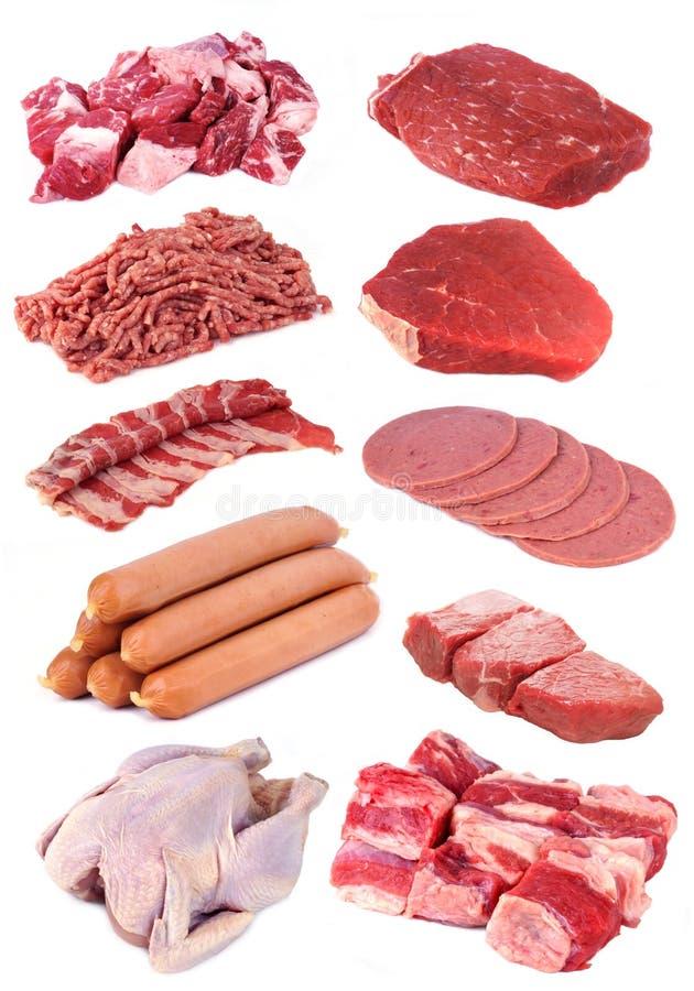 De Inzameling van het vlees stock foto's