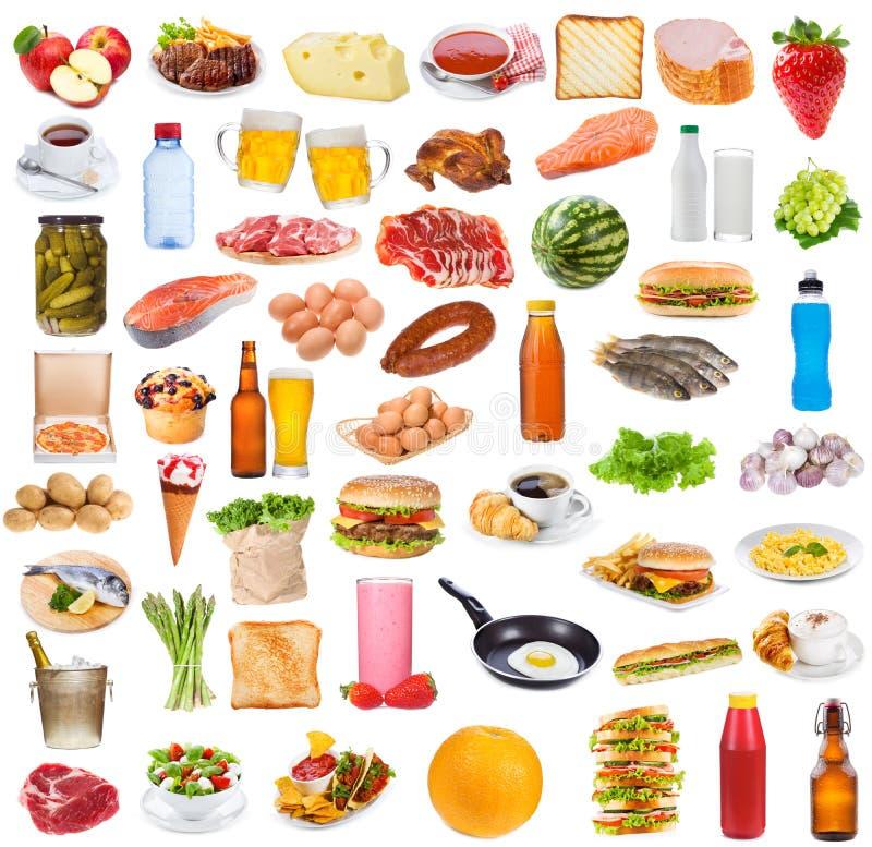 De inzameling van het voedsel stock foto