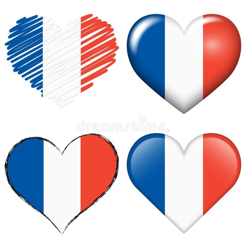 de inzameling van het voetbalharten van Frankrijk Europa royalty-vrije illustratie