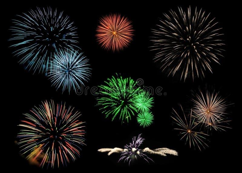 De inzameling van het vuurwerk royalty-vrije illustratie