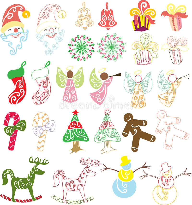 De Inzameling van Kerstmis vector illustratie