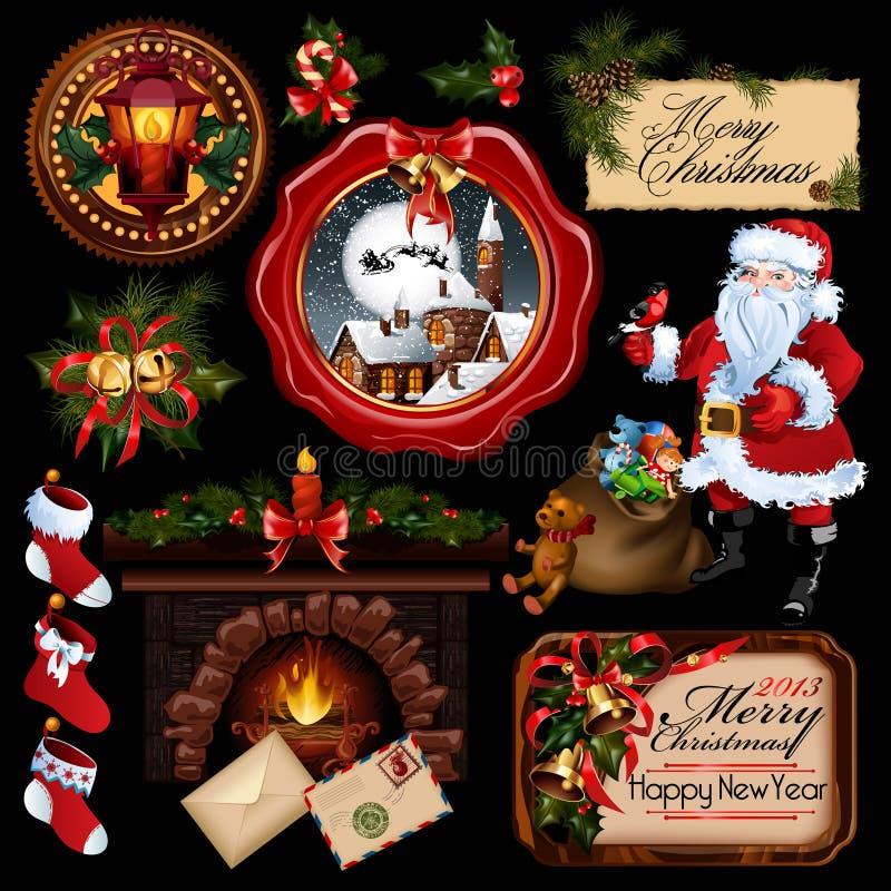 De inzameling van Kerstmis. royalty-vrije illustratie