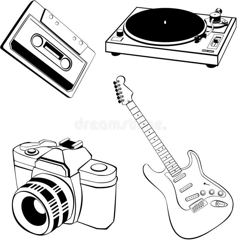 De inzameling van objecten stock illustratie
