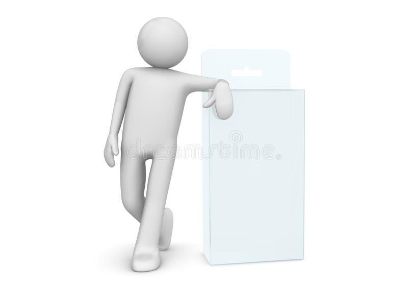 De inzameling van pakketten - Mat de houdersgat van de productdoos stock illustratie