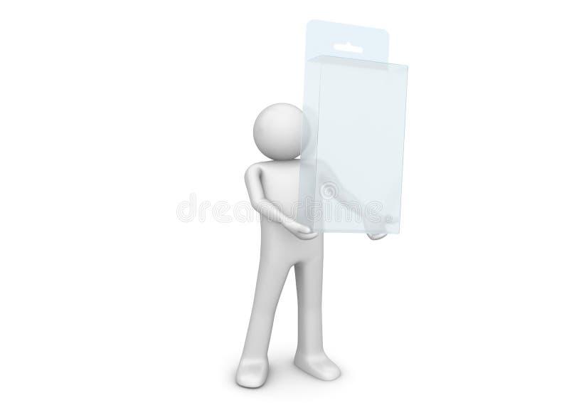 De inzameling van pakketten - Mat de houdersgat van de productdoos vector illustratie