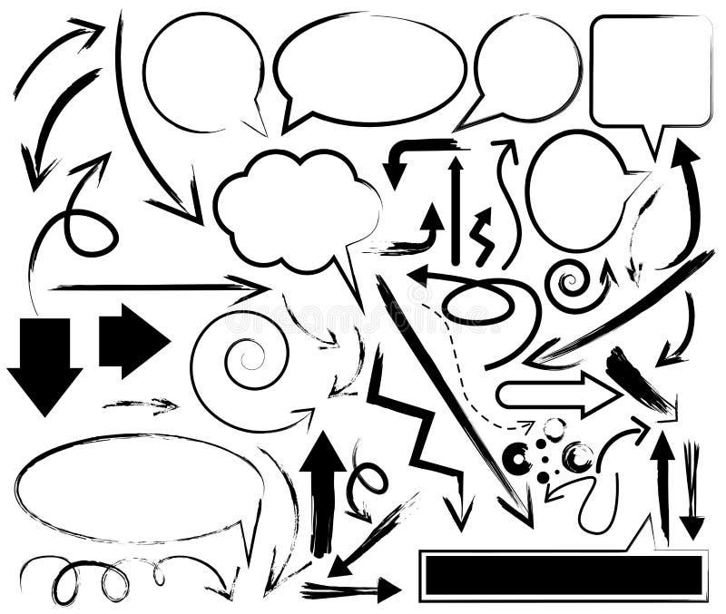 De inzameling van pijlhandfree stock illustratie