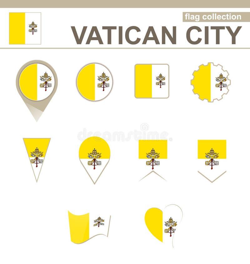 De Inzameling van de de Stadsvlag van Vatikaan vector illustratie
