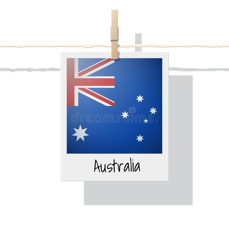 De inzameling van de de streekvlag van Oceanië met foto van de vlag van Australië