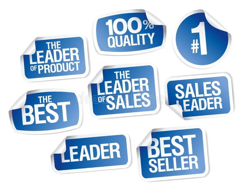 De inzameling van verkoop advertisign stickers royalty-vrije illustratie