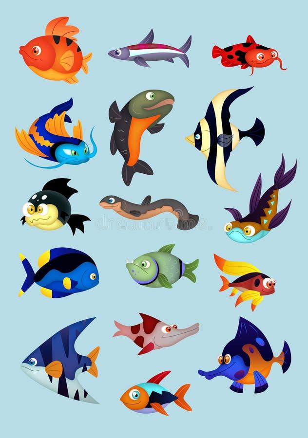 De inzameling van vissen royalty-vrije illustratie