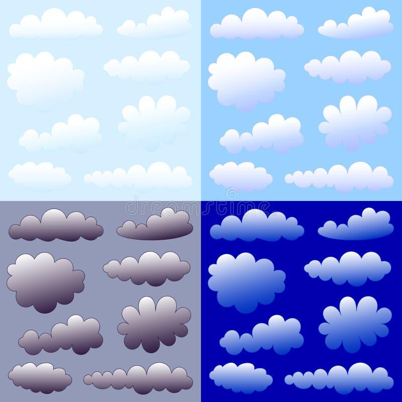 De inzameling van wolken royalty-vrije illustratie