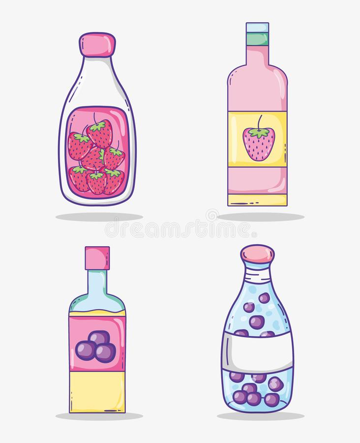 De inzameling van de zomersappen vector illustratie