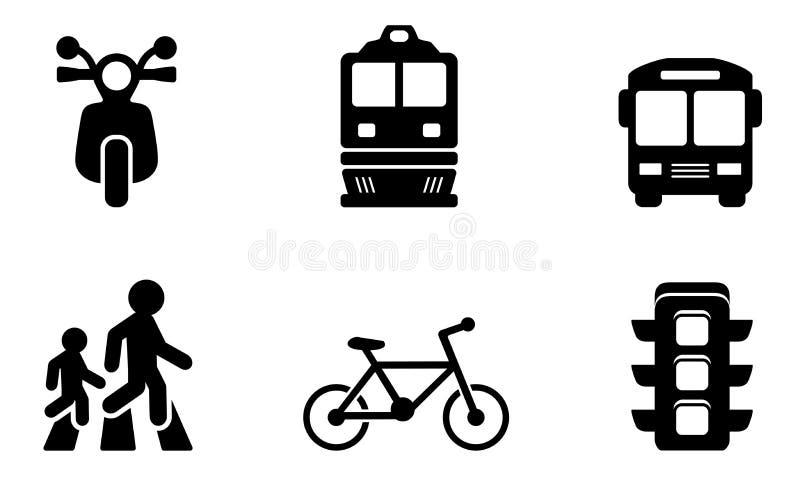 De inzamelingen van vervoerpictogrammen royalty-vrije illustratie