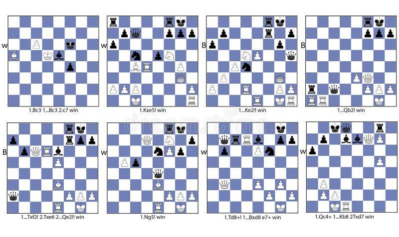 De inzamelings tactisch thema van het schaakspel van afwijking royalty-vrije illustratie