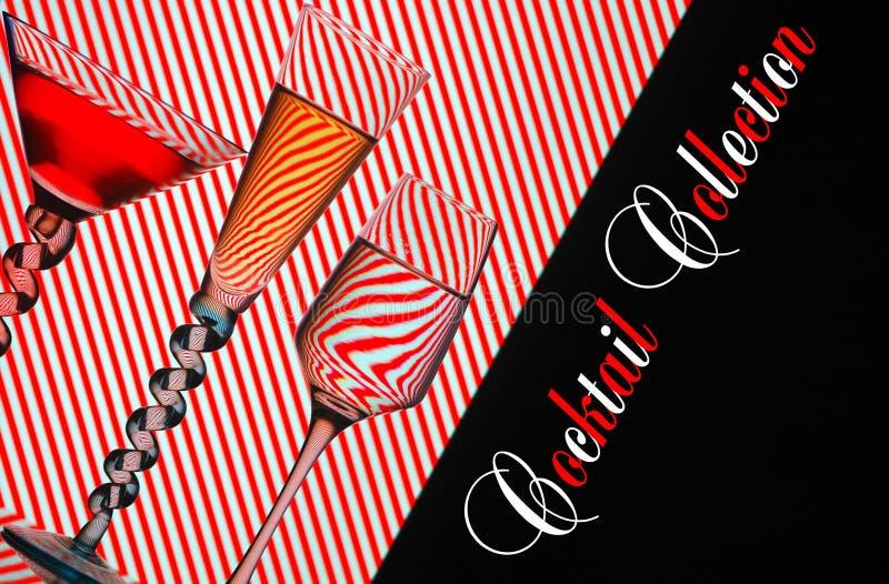 De inzamelingsachtergrond van de cocktail vector illustratie