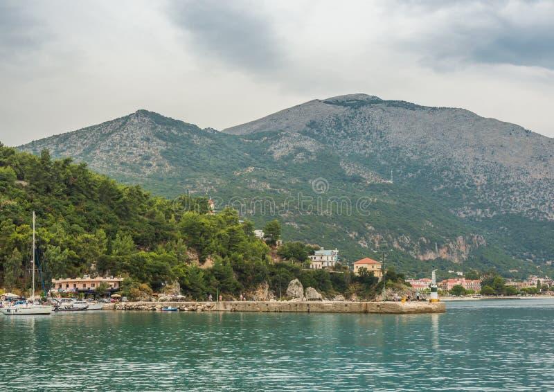 De Ionische Eilanden van de Porosbaai royalty-vrije stock afbeeldingen