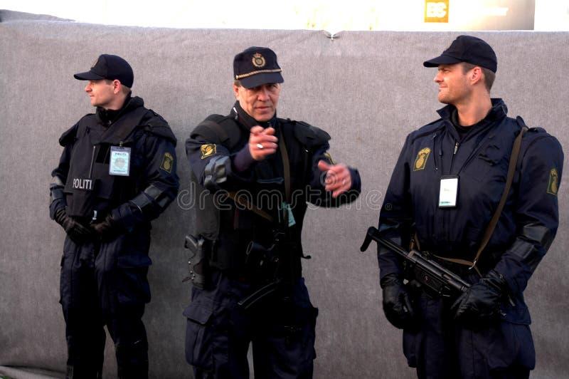 De IRAAKSE het PARLEMENT politie van verkiezing-Deens royalty-vrije stock foto