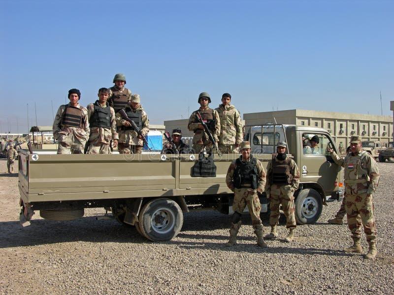 De Iraakse Militairen van het Leger royalty-vrije stock foto