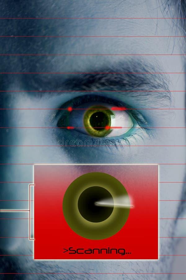 De Iris van het aftasten vector illustratie