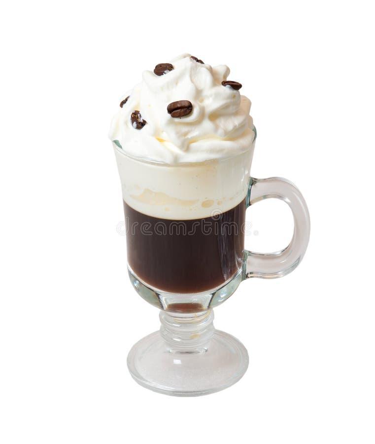 De Irish coffee solated op wit stock foto